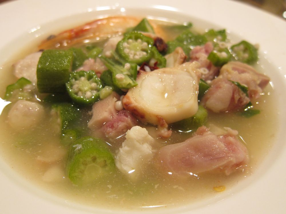 Curaçaoan Gumbo with Okra, Salted Meats, Shrimp, Octopus and Oysters