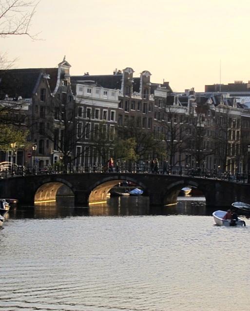 Pretty canal and bridge near Tempo Doeloe
