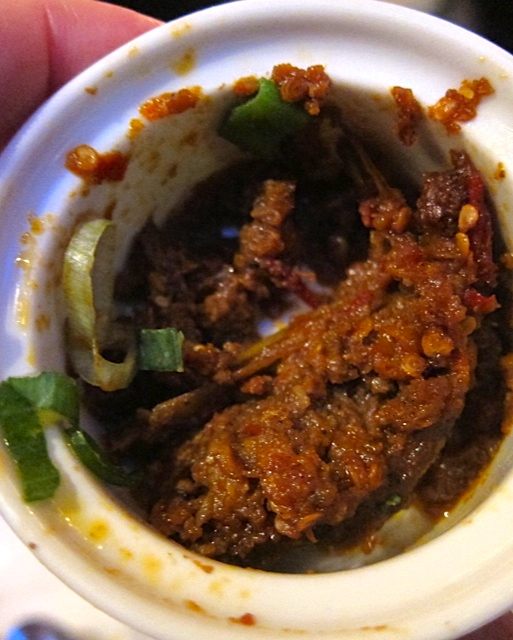As you can see…I ate some of the Daging Rendang at Tempo Doeloe…but not all of it!