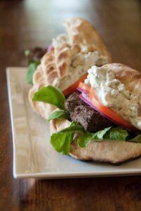 ostrich-black-blue-cheese-burgers