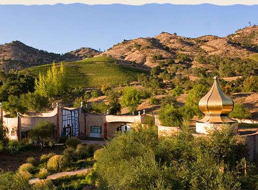 """""""Whimsical"""" """"eccentric"""" Quixote Winery in Stags Leap"""