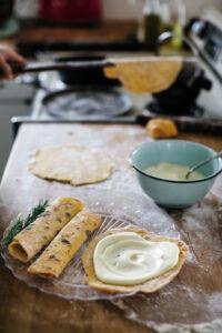 sweet-potato-lefse-with-rosemary-cream