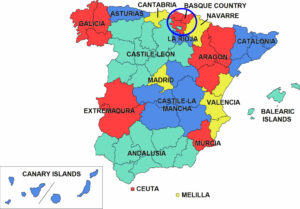 Spain Map Basque Country