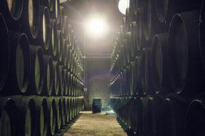 Bodegas Sanlucar Vinos Jerez Sherry, Solera System, Stacked Barrels
